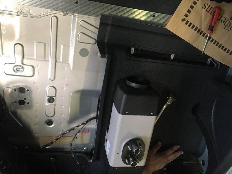 MB Sprinter 2020 montáž Webasto AT EVO 40
