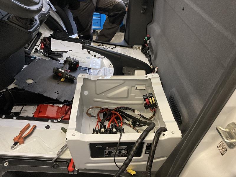 MB Sprinter montáž chladenia Webasto