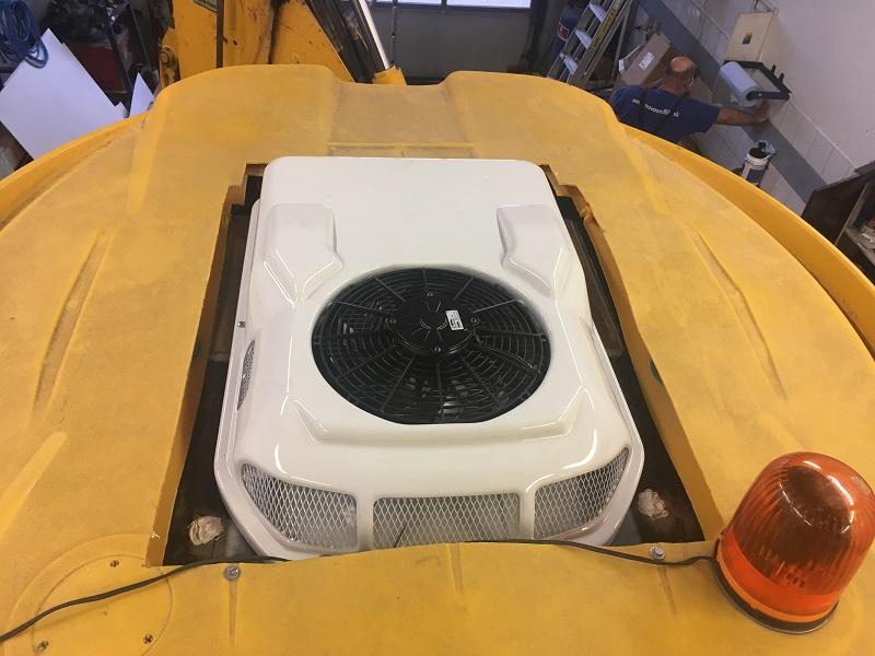 JCB montáž klimatizácie Portofino