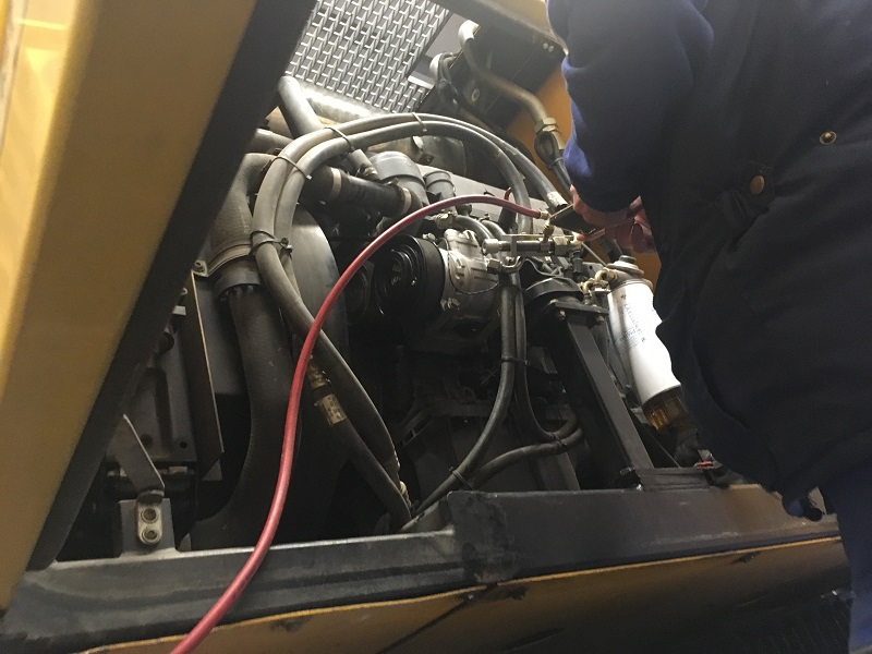 Žeriav-oprava klimatizácie